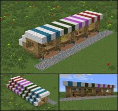Minecraft Marketplace Design My Growing Town Needed Some Market Stalls Minecraft Crafts