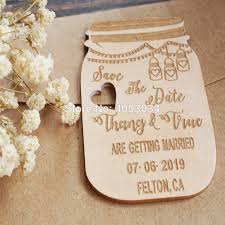 Save The Date No Photo Us 5 6 30 Off Save The Date Mason Jar Magnet Wedding Invitation Custom Wedding Announcement Rustic Invite Barn Wedding Wood In In
