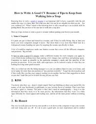 How To Write A Good Resume Amazing How To Write A Good Resume Exol Gbabogados Co Writing
