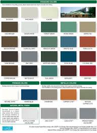 Central States Metal Color Chart 55 Surprising Steel Building Colors Chart