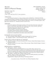 Sample Resume Objectives For Physical Therapist Best of Cover Letter For Physical Therapy New Graduate Physical Therapist
