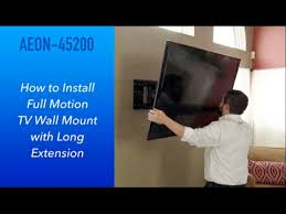 to install full motion tv wall mount
