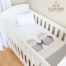 penguins egyptian cotton baby duvet cover set