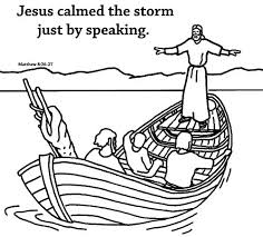 Afterwards, he wanted a respite from the crowds so decided to take a boat with the apostles to the opposite shore where there were no large. Amazon Com Jesus Calms The Storm Coloring Card 12 Pk 30015 Everything Else