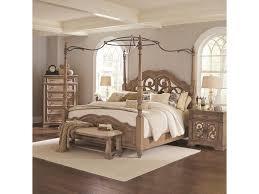 Coaster Ilana King Canopy Bed with Mirror Back Headboard | Value ...