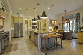 Industrial Kitchen Flooring Decorations Large Kitchen With Wooden Flooring And Furniture