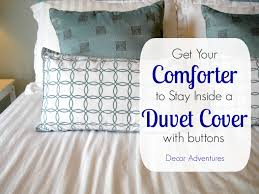 how to keep a duvet in place