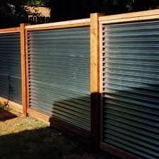inspiration corrugated metal fence horizontal with cedar bockman group cost diy idea pro and con tucson