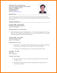 Resume Examples In Philippines Augustais