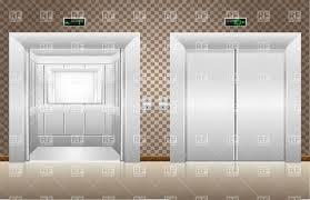 open and closed door clipart. Two Open And Closed Elevator Doors Royalty Free Vector Clip Art Door Clipart