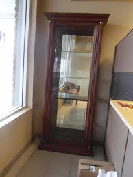 Jasper Curio Cabinet Walnut Curio Cabinet Redeemed Office Furniture
