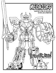 Mighty Morphin Power Rangers Printable Coloring Pages Best Of 15