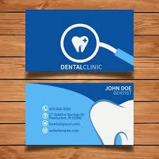 dental visiting card design blue dental business card vector free download