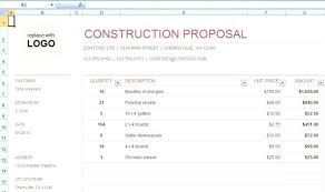 construction bid proposal template. Free Construction Bid Proposal Template Download Free Construction