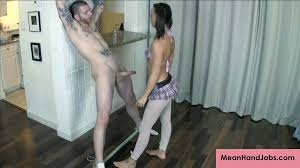 Man tied hand job