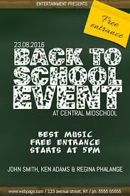 Simple Event Flyers Back To School Chalkboard Simple Event Party Flyer Template
