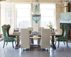 magnificent turquoise chandelier for main l installation charming eclectic dining room design interior with contemporary furniture style