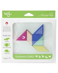 tegu hummingbird travel pal magnetic wooden blocks eco friendly and safe wooden