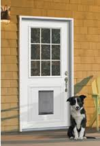 exterior door with dog door. jeld-wen\u0027s pet solution for steel and fiberglass doors exterior door with dog window \u0026 magazine