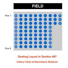 Razorback Seating Chart Arkansas Razorback Football Stadium Seating Chart 12 Fresh