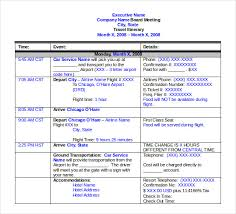 what is a travel itinerary travel itinerary template free premium templates