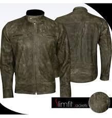 distressed wax men s biker vintage cafe racer jacket