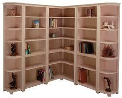 Unfinished Corner Shelves Arthur Brown Custom Corner Bookcases 56