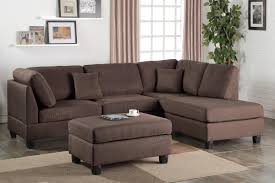 brown sectional sofas. Modren Sofas Courtney Brown Fabric Sectional Sofa And Ottoman For Sofas O