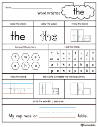Coloring Pages Sight Word Big Worksheet Inspirationaring Pages