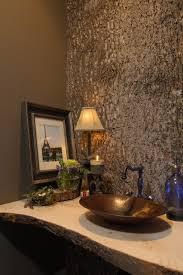 Poplar Bark Wall Panel - Unique Wall Covering eclectic-powder-room