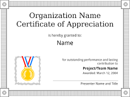Certificate Of Appreciation Templates Free Download Certificate Of Appreciation Sample Template Get A Free Download