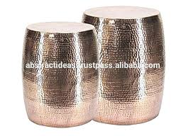 small drum coffee table target copper drum table aluminum hammered side small home interior