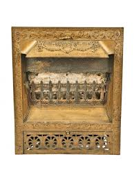 19th century american victorian metallic gold enameled patented interior residential dawson cast iron residential fireplace gas