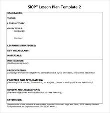 Sample Lesson Plans Format Sample Siop Lesson Plan Template Download Templates Lesson Plans