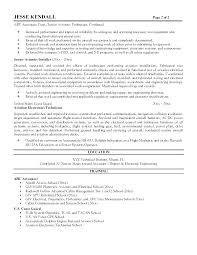Aircraft Maintenance Resume Maintenance Technician Sample Resume