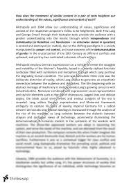 metropolis essay year hsc english advanced thinkswap 1984 metropolis essay