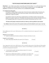 ib psychology midterm exam study guide