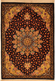 high knott count silk and wool qum persian rug