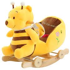 plush rocking chair. Wonderful Plush Kingtoy Plush Baby Rocking Chair Children Wood Swing Seat Kids Outdoor Ride  On Stroller Toyin On Animal Toys From U0026 Hobbies  To H