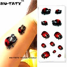 4065 руб 13 скидкаnu Taty божья коровка детская 3d временная татуировка боди арт
