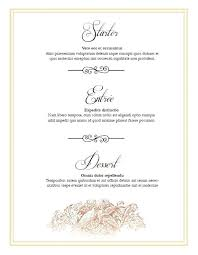 Printable Menu Template Wedding Design Format Tailoredswift Co