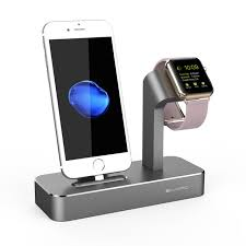 ivapo 2 in 1 charging dock for apple watch stand series 3 2 solid aluminum