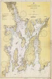 Amazon Com Map Narragansett Bay Rhode Island 1930
