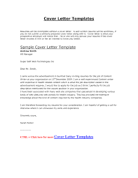Awesome Collection Of Sample Cover Letter For Job Application Doc