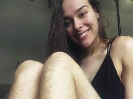 Picture of woman with hairy leg