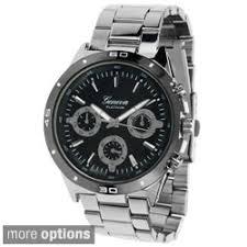 geneva platinum mens chronograph style polished link watch p15504360 jpg geneva platinum men s chronograph style polished link watch