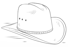 Small Picture Cowboy Hat coloring page Free Printable Coloring Pages