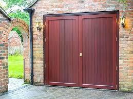 side hinged garage doors opening canada