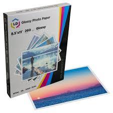 LD <b>Premium Glossy</b> Inkjet <b>Photo Paper</b> 50 Sheet Pack, Resin ...