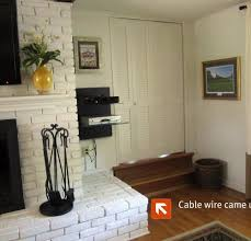 mounting tv above gas fireplace useful luxury design how to hide tv wires over stone fireplace